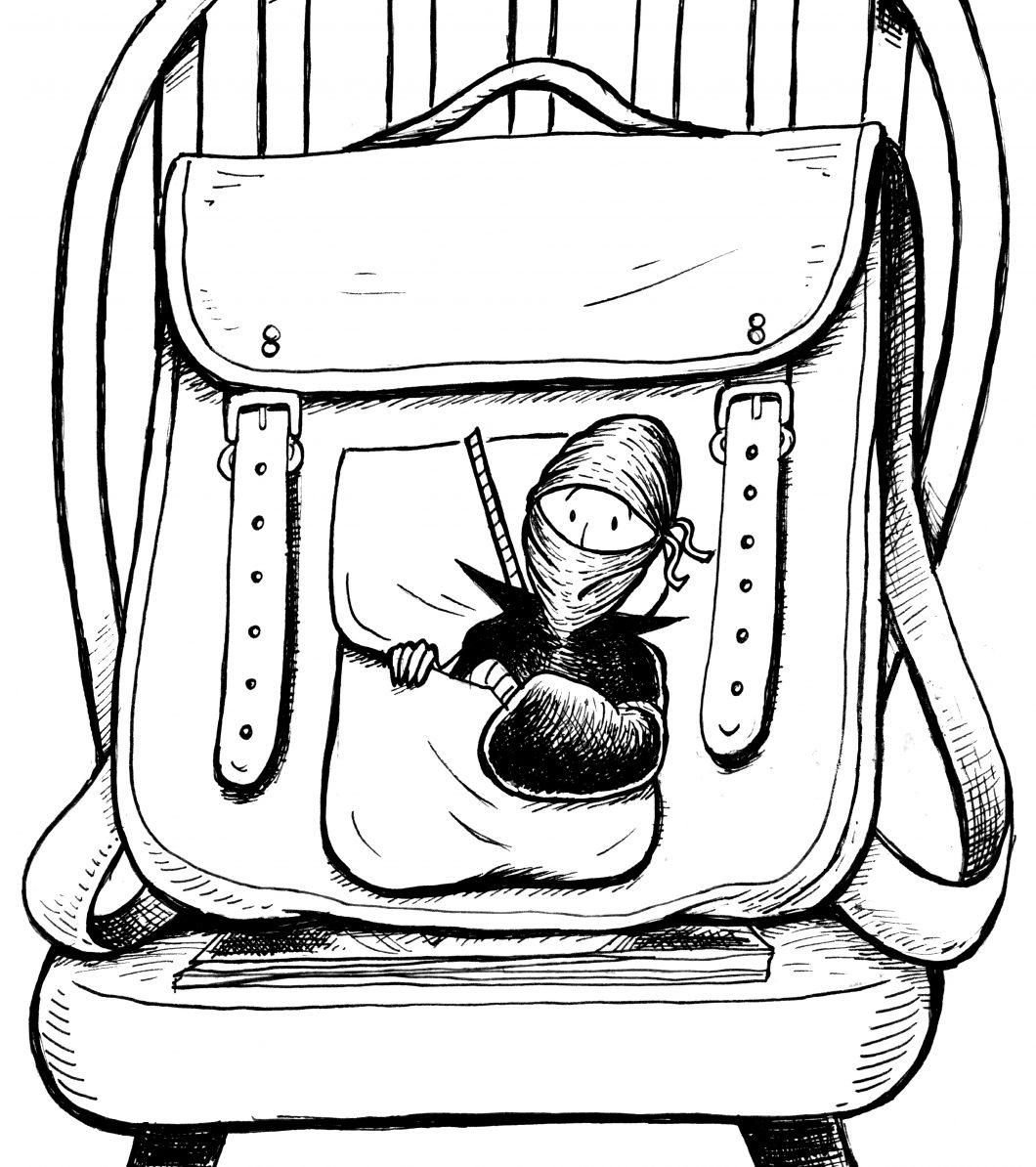 smfa ninja backpack by chari pere
