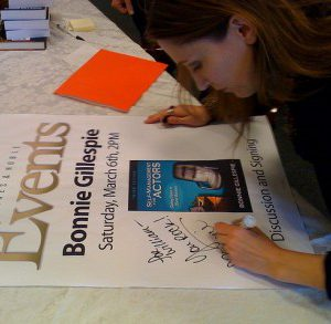 bonnie gillespie sign smfa poster barnes noble