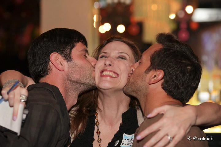 Bonnie Gillespie Gets Love from Cute Boys at the TweetUp