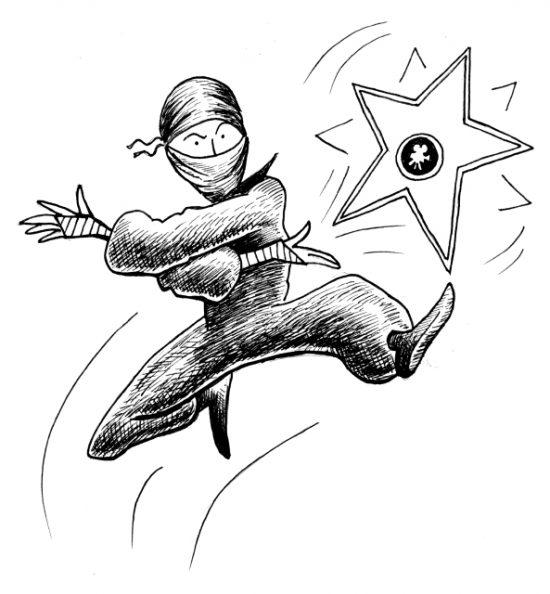 smfa ninja throwing star by chari pere