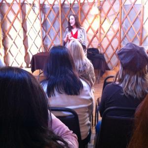 Bonnie Gillespie Teaching in a Yurt