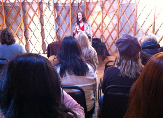 Bonnie Gillespie Teaching in a Yurt