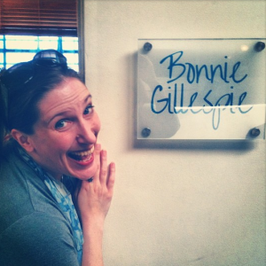 Bonnie Gillespie New Office Sign