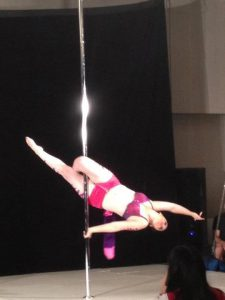 my Pole Sponsor Danielle doing the Jasmine at PPC