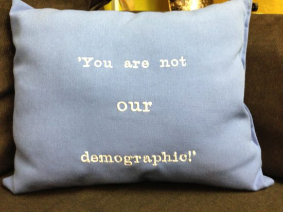 you are not our demographic pillow bonnie gillespie bite me casting office