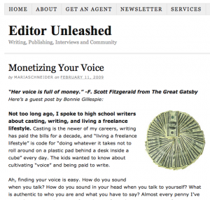 Bonnie Gillespie at Editor Unleashed