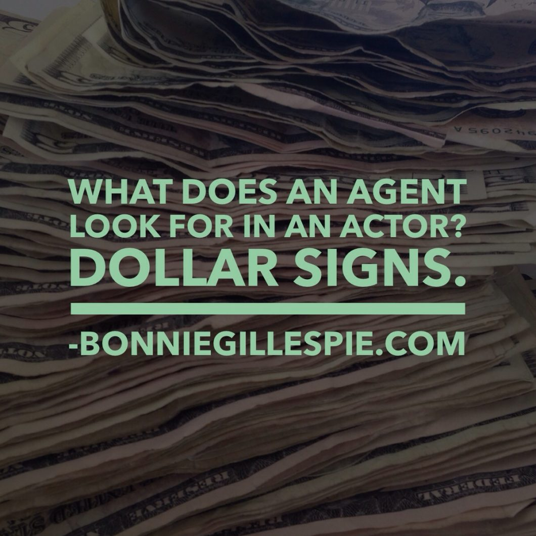 agent looks for dollar signs bonnie gillespie