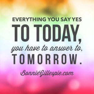 do today answer to tomorrow bonnie gillespie
