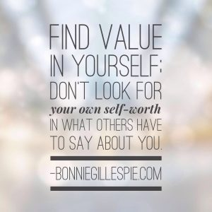 find value in yourself bonnie gillespie