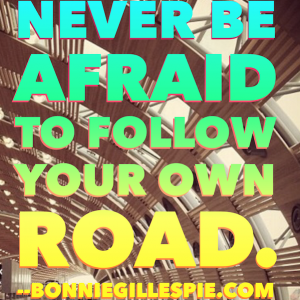 follow your own road bonnie gillespie