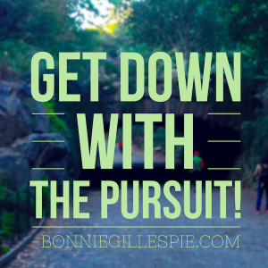 get down with the pursuit bonnie gillespie