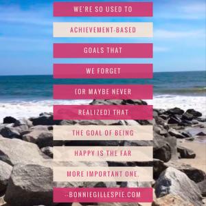 goal of being happy bonnie gillespie