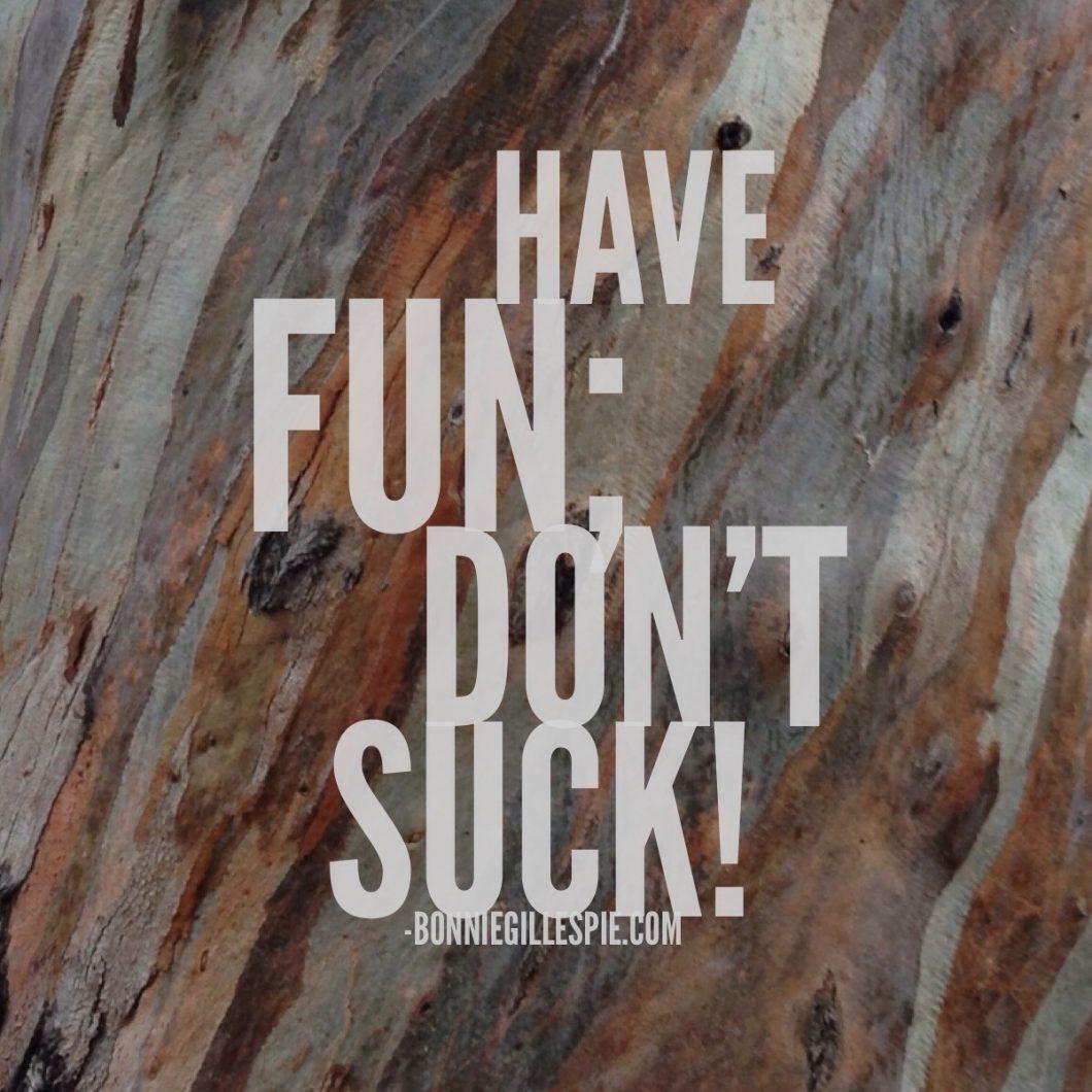 have fun dont suck bonnie gillespie
