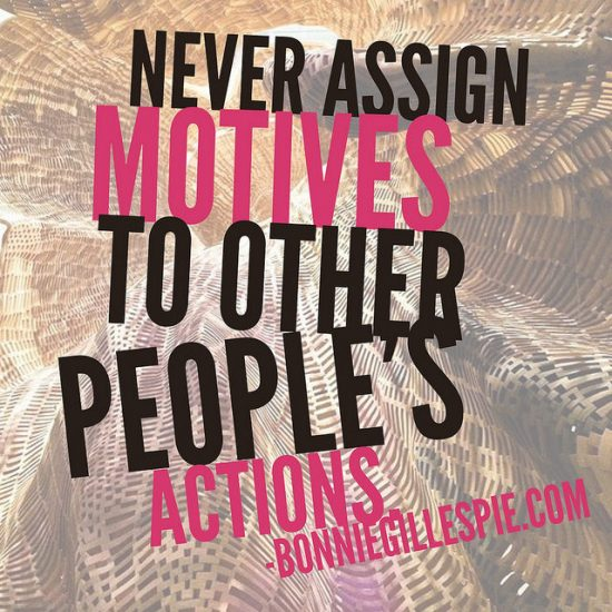 motives actions bonnie gillespie