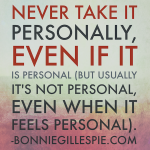 never take it personally bonnie gillespie