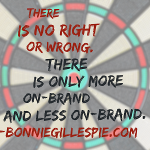 no right or wrong brand bonnie gillespie