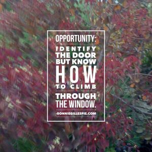 opportunity door window bonnie gillespie