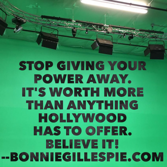 stop giving your power away bonnie gillespie