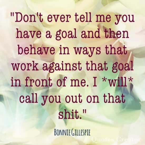 rowena meddeman call you out on goals bonnie gillespie