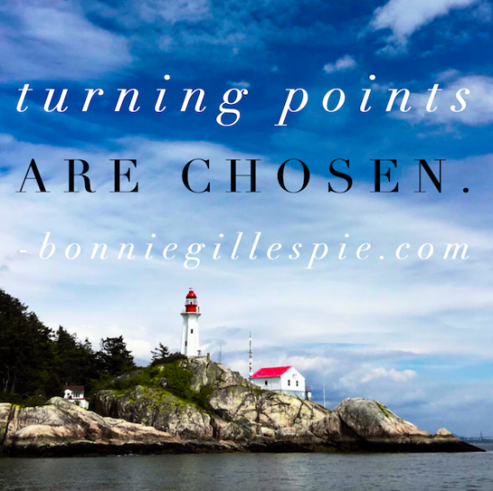 turning points are chosen bonnie gillespie