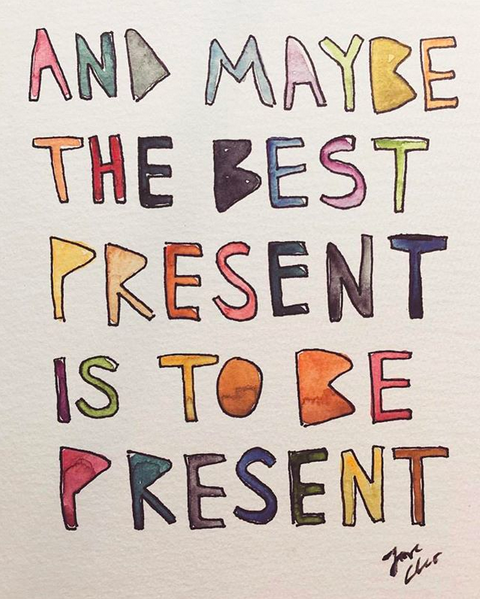 be present by cleo wade