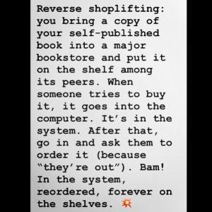 reverse shoplifting by bonnie gillespie