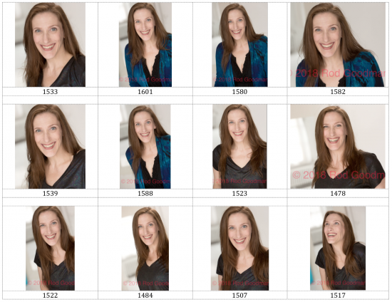 help bonnie gillespie pick a headshot