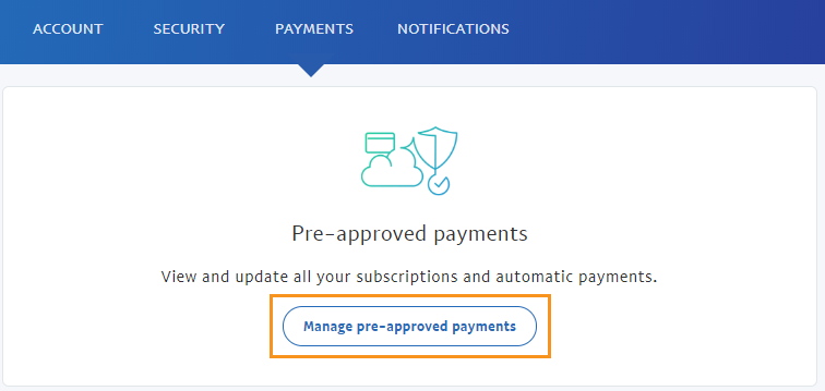 Managing Recurring Payments - Manage Button
