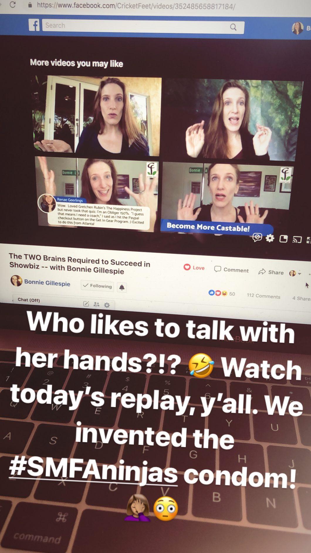 bonnie gillespie talks with her hands