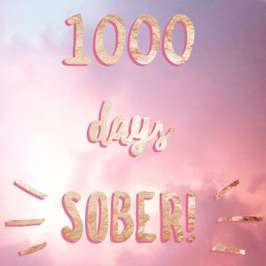 Bonnie Gillespie has been sober for 1000 days.