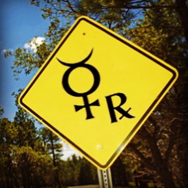 mercury retrograde street sign