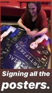 Bonnie Gillespie Autographing Emmy Posters