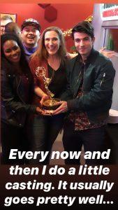 Bonnie Gillespie Casting La Trice Harper Rex Bressler Bernie Su Emmy Party