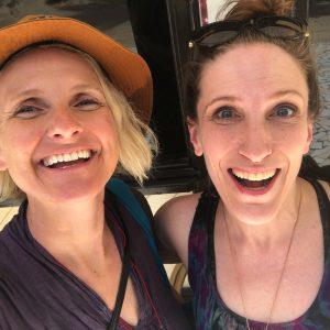 Bonnie Gillespie with Liz Gilbert in Fiji UGWA2020