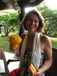 Caroline Gasc with a Big Drink UGWA2020 by Bonnie Gillespie