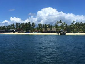 Departing Malolo Plantation Island Old Pier UGWA by Bonnie Gillespie Fiji