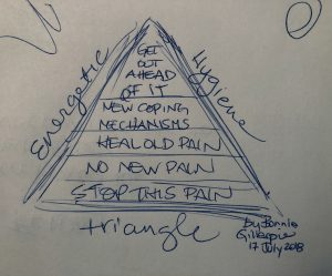energetic hygiene triangle by bonnie gillespie