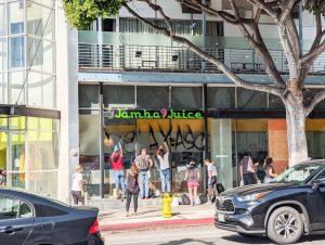 Vandalized -- Jamba Juice Santa Monica, June 1, 2020