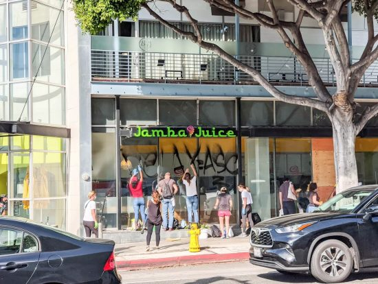 Vandalized -- Jamba Juice Santa Monica, June 1, 2020