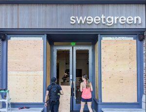 Looted -- Sweetgreen Santa Monica, June 1, 2020