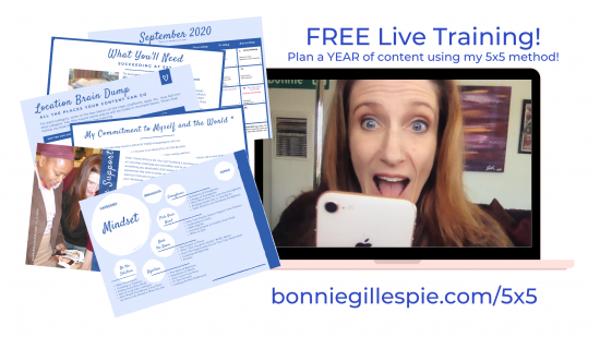 Bonnie Gillespie's 5x5 Content Planning Method