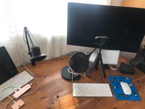 Bonnie Gillespie's livestream setup 2020