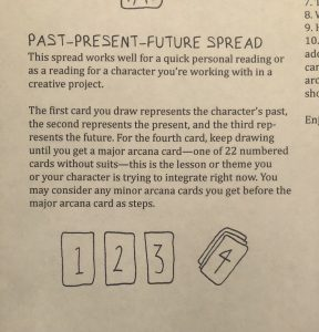 past present future instructions writing with the tarot