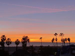last sunset of 2020 Bonnie Gillespie Santa Monica